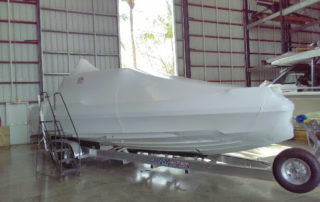Boat Shrinkwrap for transportation Call 954 616 5810