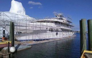 Boat Scaffold Job on Floats by Usa Shrinkwrap 954 6165810