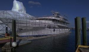 Full Boat Scaffolds on Floats
