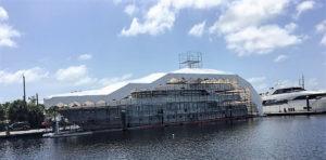 Yacht Scaffolds and Shrinkwrap